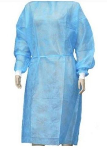 Isolation Gown with Knit Cuffs - PP+PE