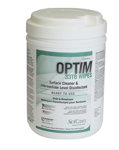 Disinfectant Wipes, Optim 33TB